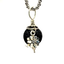 Lava Stone Diffuser Necklace Charms Lotus Flower - €20,30 EUR