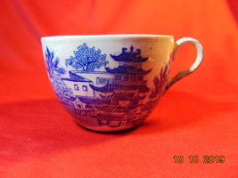 """2 1/2"""", Earthenware, Blue Willow, Cup, Unknown Maker. Circa 1940? - $2.99"""