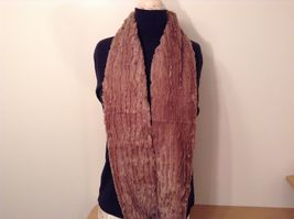 Fashion long  infinity faux fur scarf warm cozy choice of color solids image 9