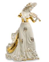 Sabadin Vittorio Porcelain Figurine LADY HAT AND VIOLIN Hand Painted Ita... - $400.00