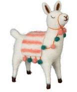 """7"""" Felt Llama Pom Pom Fringe Decorative - $13.95"""
