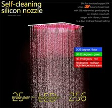"LED 20"" Square Ceiling Mounted Shower System 2 Rainfall Mode, Gold - $1,306.79"