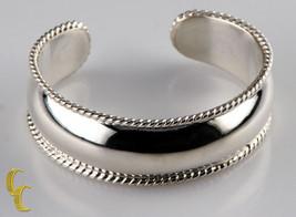 argent sterling bracelet rigide Corde bordures finition polie Great - $155.03