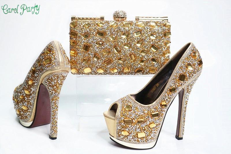 OLAMICH 2018 WOMEN New Fashion Italian Design Shoe Bag Set Party High Quality fo