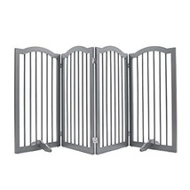unipaws Freestanding Dog Gate w/2pcs Support Feet, Foldable Pet Gate for... - $130.07