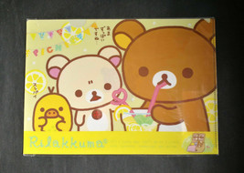 SAN-X Rilakkuma Korilakkuma Kiiroitori Chocolate & Coffee A4 Clear folde... - $6.99