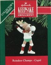1991 - New in Box - Hallmark Christmas Keepsake Ornament - Reindeer Champs - $3.11