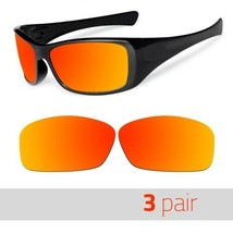 3 Pair Optico Replacement Polarized Lenses for Oakley Hijnix Sunglasses Red - $21.99