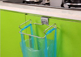 kitchen Accessories New Home Trash Bag Holder Door Hook Stainless Steel ... - $23.00
