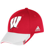 Adidas NCAA College WISCOUNSIN BADGERS Football Curved Hat Cap Size S/M - $20.00