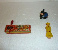 Vintage Assorted Lot of 3 Small Toys Cowboy Whistle Mickey Mouse & Other S-28 - $8.79