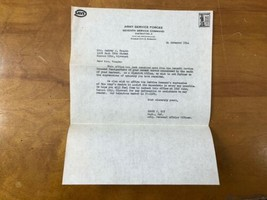 WWII Army Service Forces Sympathy Letter Soldier KIA 1944 Kansas City Mi... - $59.39