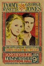 Tammy Wynette & George Jones Concert METAL TIN SIGN POSTER WALL PLAQUE - €13,76 EUR+