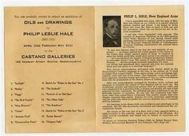 Philip Leslie Hale New England Artist Invitation Castano Galleries Bosto... - $17.82