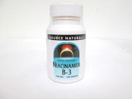 Source Naturals Niacinamide B-3 100mg - 100 tablets [VS-S] - $9.50
