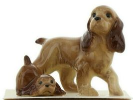 Hagen Renaker Miniature Dog Cocker Spaniel Papa and Pup Ceramic Figurine Set image 10