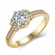 Swarovski Elements Single Solitaire 18K Gold Ring - $15.20