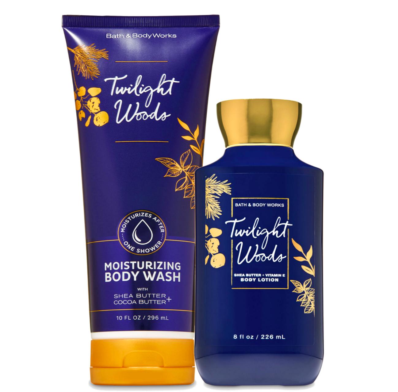 Bath & Body Works Twilight Woods Body Lotion + Moisturizing Body Wash Duo Set - $31.95