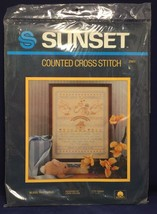 "Sunset Bless This Child Counted Cross Stitch LINDA GILLUM 2981 11""x14"" F... - $19.79"