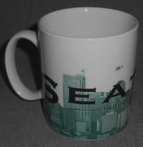 "2002 18 oz Starbucks SEATTLE ""THE EMERALD CITY"" Skyline Series One MUG - $19.79"