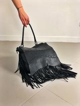 FRINGE BAG handamde leather bag  image 4