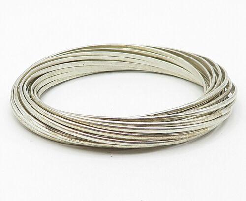 SILPADA 925 Silver - Vintage Minimalist Smooth Multi-Band Bangle Bracelet- B4914
