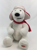 Christmas Polar White Bear Singing We Wish You A Merry Christmas Red Hat... - $34.29