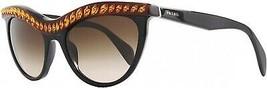Prada 38621 NAC6S1 Black 04PS Portrait Cats Eyes Sunglasses Lens Category 3 - $188.22