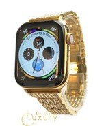 24K Gold Plated 44MM Apple Watch SERIES 6 Diamond Rhinestones Band GPS L... - $1,405.05