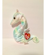 Ty Beanie Babies Plush Beanbag Neon the Seahorse Rainbow - $7.78