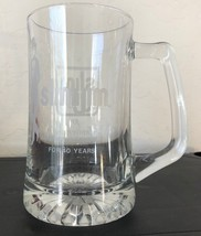 1993 SLIM JIM 40th Anniversary Beer Stein Clear Mug Etched Glass Collect... - $13.86