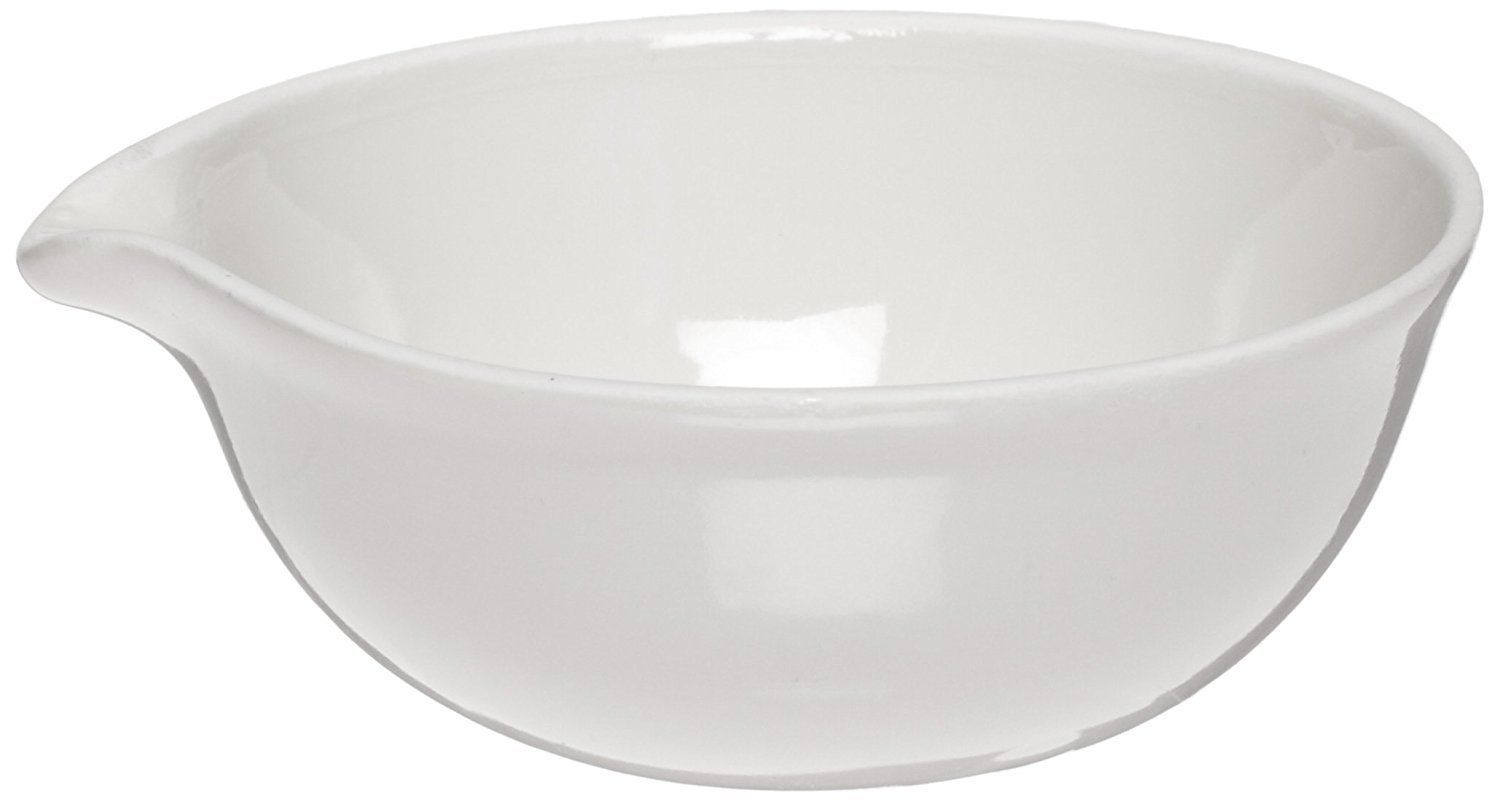 CoorsTek 60197 Porcelain Ceramic Evaporating Dishes w/ Pouring Lip (Tray of 12)