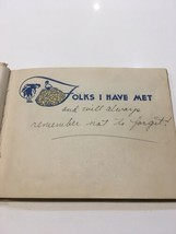 1942 WWII US Autographs Booklet Full of Notes Military World War II - $46.74