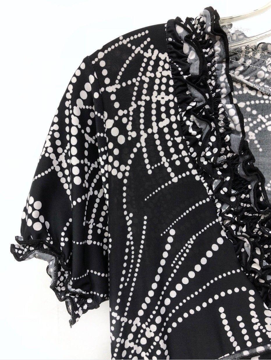 NWT $240 BCBG Max Azria Size XS Surplice Empire Waist Black White Womens Dress