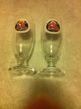 (2)  ANHEUSER BUSCH  FOOTED BEER GLASSES----FREE SHIP---VGC - $20.68