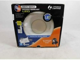 "Lithonia Lighting E-Series 5"" + 6"" Matte White Recessed LED Baffle Module - $22.00"