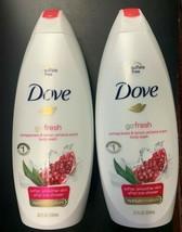 2x Dove Go Fresh Pomegranate & Lemon Verbena Scent Body Wash 22 FL OZ Each - $19.99