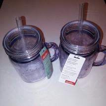 Aladdin 20 oz Insulated Clear Mason Jar Mug Drinking Tumbler Christmas g... - $17.75