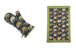 Sloths Hanging Around Rami Blu Verdi Cotone Singolo Guanto da Forno & - $22.62