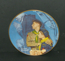 """Norman Rockwell """"Our Heritage"""" Gorham Collector's Plate Boy Scouts - $24.98"""
