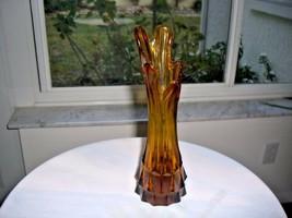 "Indiana Glass Amber Swung Vase 9"" - $11.88"