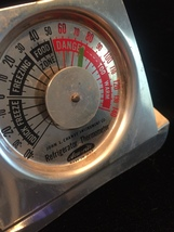 Vintage Acu-Rite refrigerator thermometer - fold up, giveaway item image 3