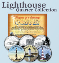 Historic American Offical LIGHTHOUSES U.S. Statehood Quarters 3-Coin - S... - $9.46