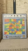 Vintage State of Colorado Counties RARE Puzzle - Puzzlin' State 1986 Pei... - $19.00