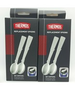 Thermos Replacement Spoons lot of 2 sets of 2 ~ Fits Stainless King Mode... - $19.80