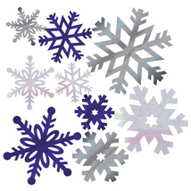Snowflake Paper Cutout Assortment/Case of 144 - £40.93 GBP