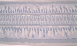 "Blue  Ribbon Small  3 1/2""  Wall Wallpaper Border 31406  Chair Rail Decor NIP - $12.86"
