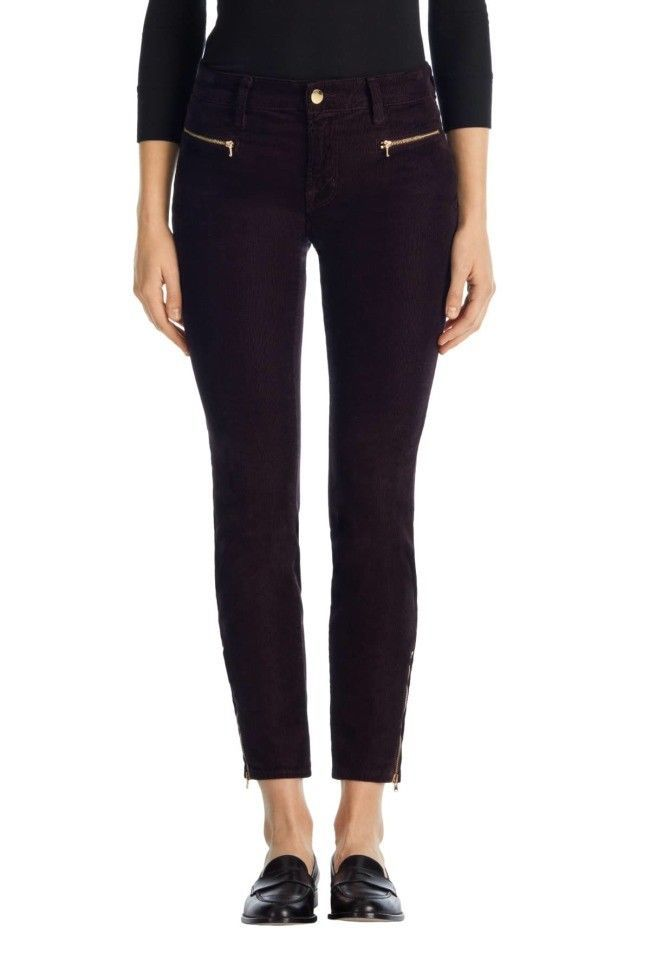 Primary image for NWT J BRAND ISELIN CORDUROY ZIP SKINNY IN BLACKBERRY 27