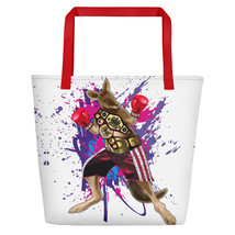 Undisputed Champion Of Animal Rights Beach Bag - $42.50