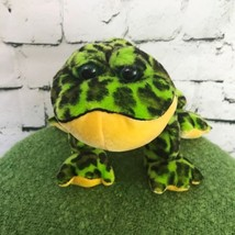 Webkinz Ganz Bull Frog Green Spotted Plush Toad Stuffed Animal Soft Toy - $9.89